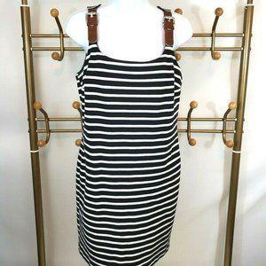 Michael Kors Striped Buckle Strap Dress